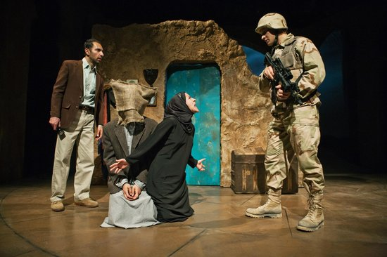 San Francisco Playhouse : Kuros Charney, Pomme Koch, Sarita Ocon and Craig Marker in Bengal Tiger at the Baghdad Zoo