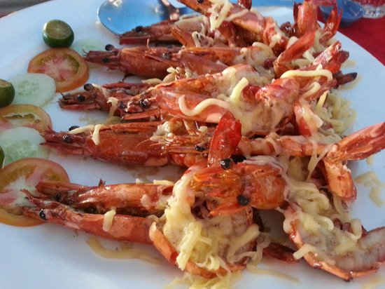 Mabul Cafe: fresh seafood was served