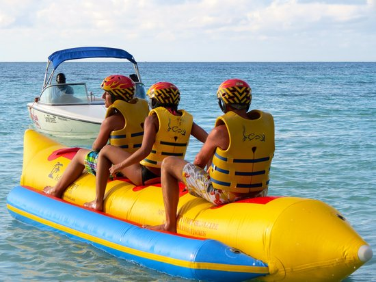 Beaches Negril Resort & Spa: taking a ride on the Banana boat