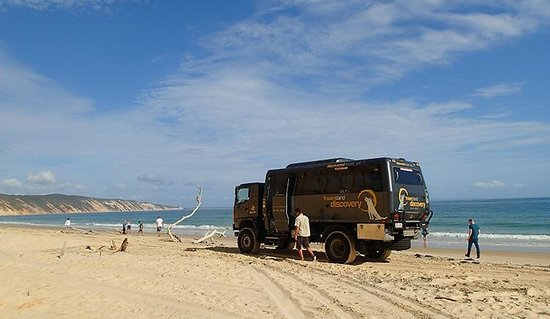 The Discovery Group: Fraser Island beach view