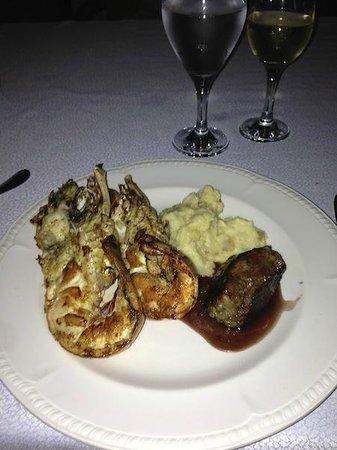 Excellence Playa Mujeres: real steak and real lobster!! So good and all free :)