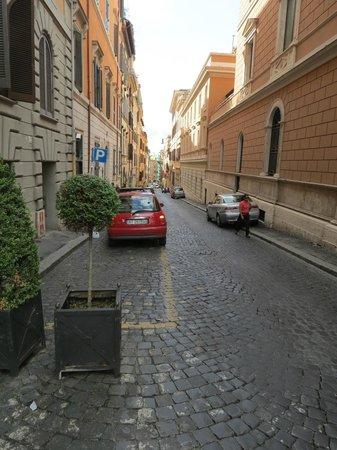 Barberini Hotel: Street in front of hotel