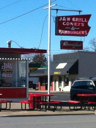 J & W Grill: right on the corner
