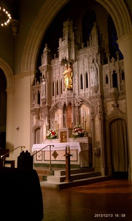National Shrine of Our Lady of Prompt Succor: Our Lady statue over the main altar.