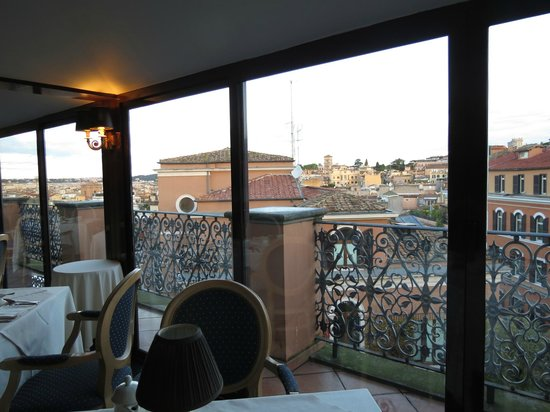 Barberini Hotel: View from breakfast room
