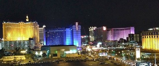 Platinum Hotel and Spa : View of Las Vegas Strip from Platinum