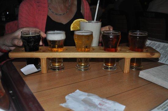 Castaway Waterfront Restaurant & Sushi Bar : The Flight of Beers