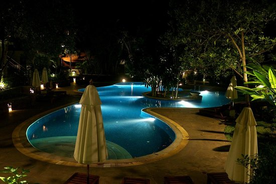 The Tubkaak Krabi Boutique Resort: View from superior room at night