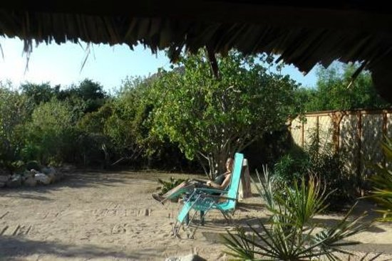 Baja Bungalows: Courtyard from seating area outside bedroom