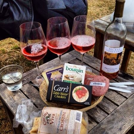 Becker Vineyards: Provençal with our picnic