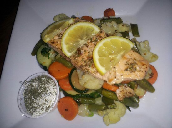 Grilled Heart healthy Salmon - Picture of The Reel Inn, Necedah ...