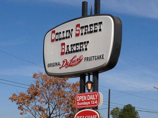 Collin Street Bakery: Look for this sign on the south side of 7th...you can't miss it!