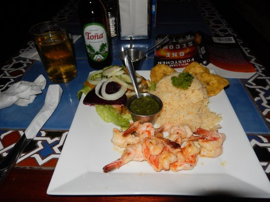 Bar y Restaurante El Muelle : Shrimp and sides
