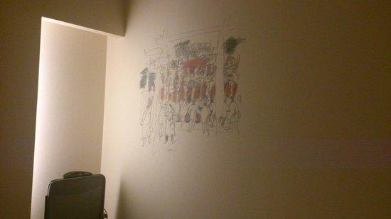 RIHGA Royal Hotel Osaka : 壁に描かれた絵