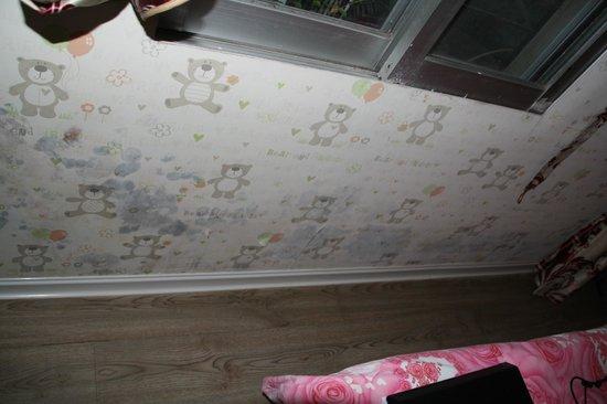 Baijiacun International Youth Hostel: première chambre, moisissure partout sur les murs