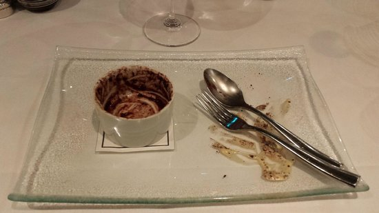Morston Hall Restaurant: (What was left of...) Banana Souffle, Brown Bread Ice Cream