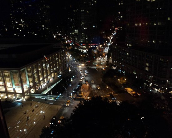 Empire Hotel: The View from the Empire Rooftop at night