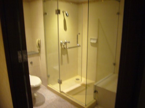 Royal Benja Hotel: シャワーブース、トイレ