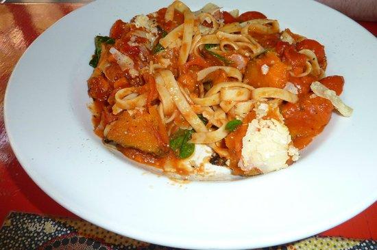 Red Ochre Grill Restaurant Alice Springs : Pumpkin and pancetta pasta