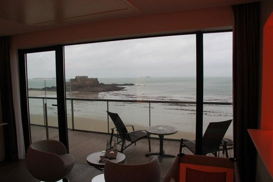 Hotel Oceania Saint Malo : La vue sur mer
