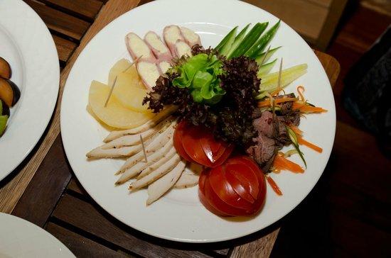 L'Ermitage Hotel: Sauna - Meat plate