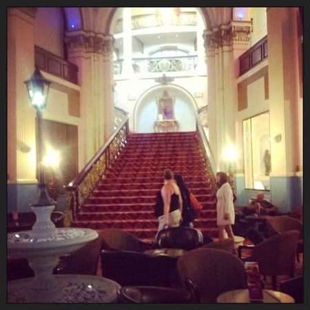 "Grand Hotel Scarborough : The ""Grand"" staircase inside the hotel"