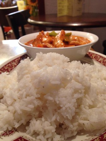 Unithai Oriental Market: Penang Chicken Curry & Steamed Rice