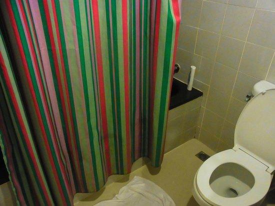 Ratchada Resort and Spa Hotel: バスカーテン