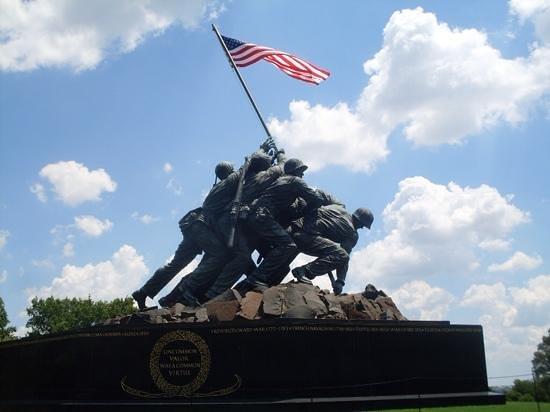 U.S. Marine Corps War Memorial: View