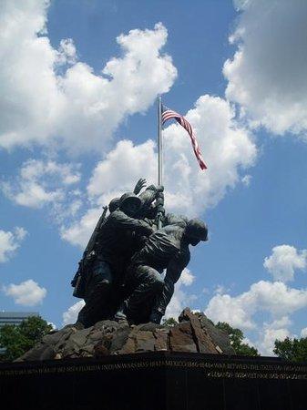 U.S. Marine Corps War Memorial: The flag