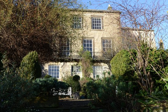 Millgate House: December view of house from garden
