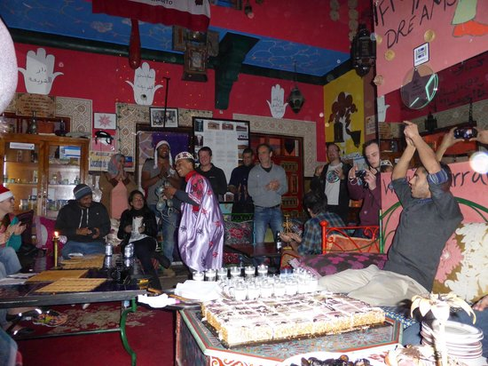 Hostel Riad Marrakech Rouge : hostel party