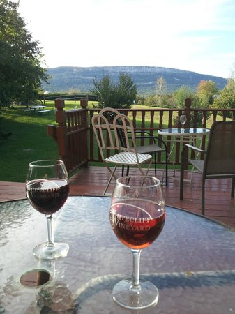 Whitecliff Vineyard & Winery : Afternoon drinks at the Whitecliff tasting room