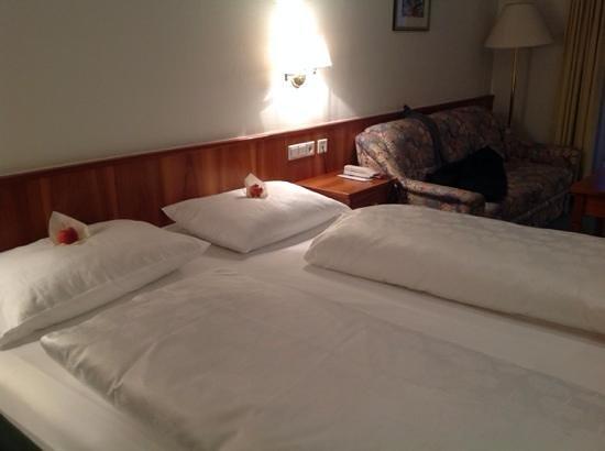 Goldene Krone Vital Hotel : Mele d'accoglienza.