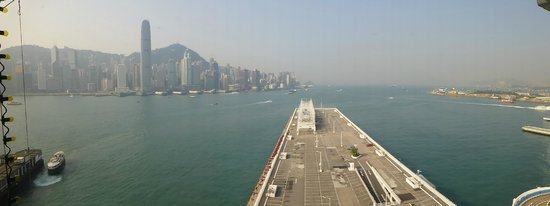 Marco Polo Hongkong Hotel: A partial view from the room - in reality it's better!