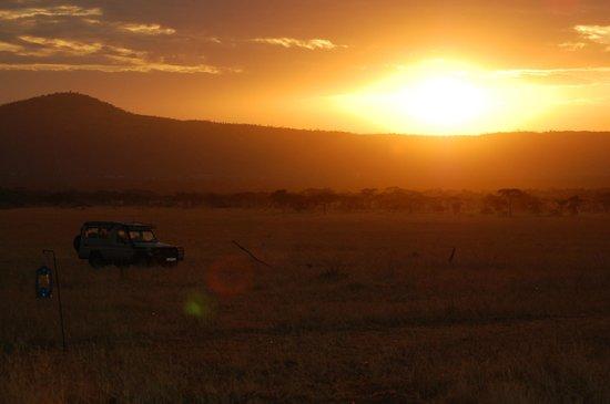 Kati Kati Tented Camp: Le lever du soleil sur le Kati Kati