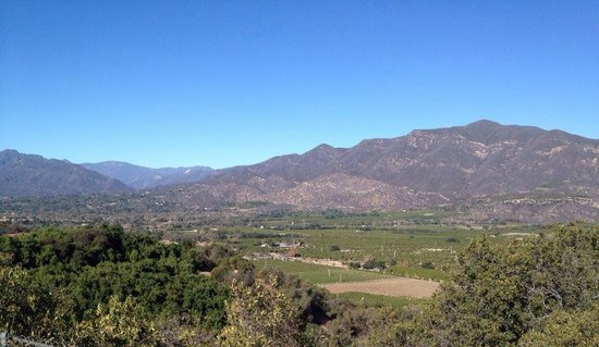 Casa Ojai Inn: Valley view, a quick drive from Casa Ojai
