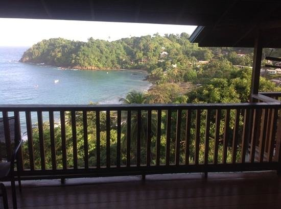 Castara Retreats: the welcoming view!