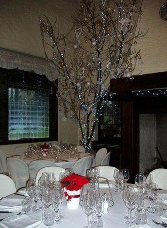 """Antico Podere di Rezzano: Pseudo """"albero di Natale"""" accanto al camino."""