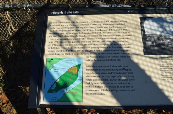 James River : Description of Belle Isle