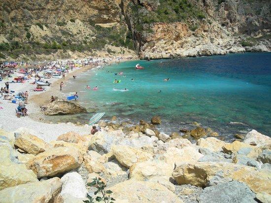 Cala del Moraig: chegando na praia