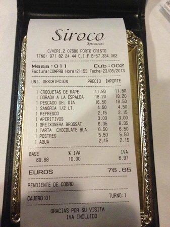Siroco : check