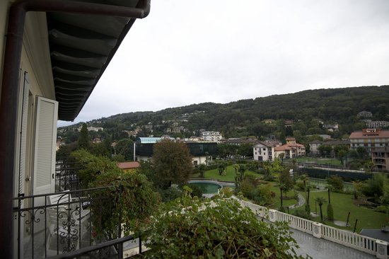 Regina Palace : View of Stresa from Hotel Room -- Rear of Building