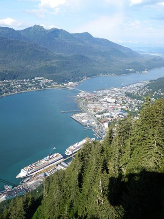 Goldbelt Mount Roberts Tramway: View of Juneau from the top