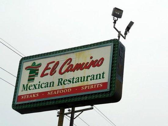 El Camino Restaurant Incorporated: Exterior sign