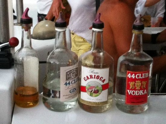 Pelican Adventures: The cheapest booze on the Island is on this boat!