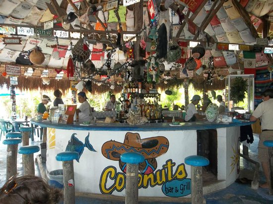 El Cozumeleno Beach Resort: This was a stop along our trip along the coast, Coconuts Bar