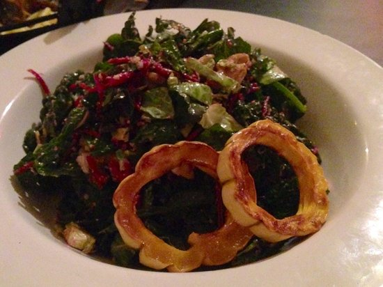 Saalt Pub: Lemony Italian salad. A favorite of the night! The toasted walnuts and Brussels sprouts mixed th