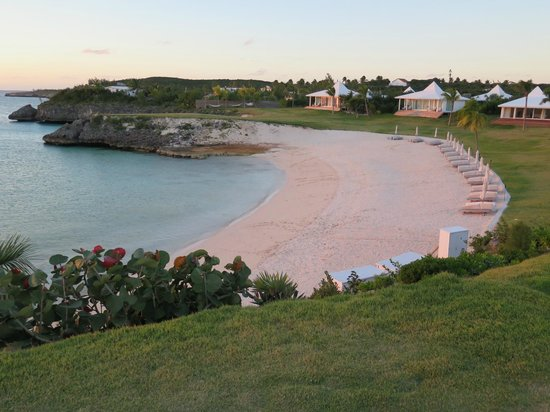 The Cove Eleuthera: One of the 2 beaches, from the pool area