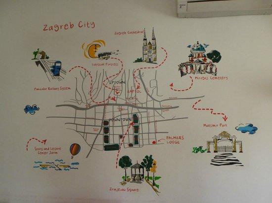 Zagreb City Map on